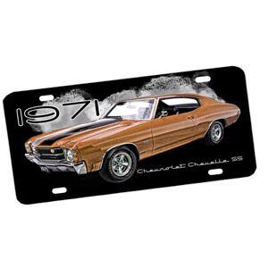 1971 Chevrolet Chevelle SS Super Sport Muscle Car Design Aluminum License Plate