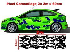 Pixel MIMETICO CAMO Tuning Adesivo Sticker Hater GEIL Old JDM COMPLETO 2x 2m
