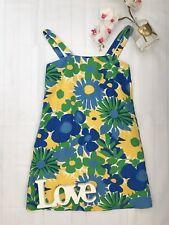 J Crew Size 4 UK 8 60's inspires mini shift dress vgc linen mix summer going out
