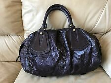 Francesco Biasia Purple eggplant Nylon/Leather Satchel handbag