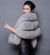 Womens Thicken Faux Fur Shawl Cape Jacket Warm Wedding Bridal Poncho Outwear E35