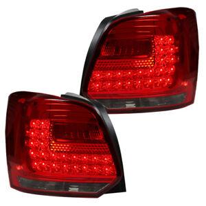Depo LED Rückleuchten Heckleuchten für VW Polo 6R Bj. 09-14 Rot/Smoke