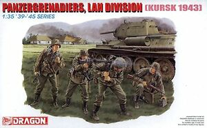 Dragon 1/35 6159 WWII German Panzergrenadiers, LAH Division (Kursk 1943)(4 Figs)
