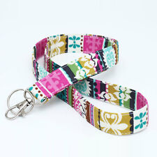Key Chain Lanyard Teacher Womens Badge Neck Strap ID - colorful stripes tribal