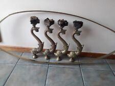 Antique bronze/brass koi fish coffe table legs and rim