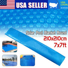 Round Solar Swimming Pool Cover Spa Outdoor Bubble Pe Thermal Blanket 2.1*2.1M