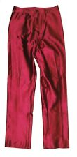VINTAGE JOU JOU Spandex Disco Pants Shiny Nylon Jeans Fuchsia Beautiful RARE