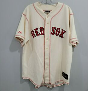 Majestic Cooperstown Boston Red Sox Ted Williams 9 Throwback Jersey Mens L