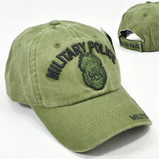 Army Military Police Olive Green Cap Hat Low Profile 100% Cotton Adj Back New