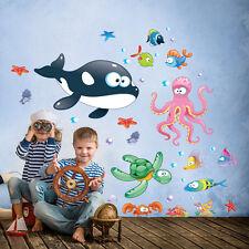 R00195 Wall Stickers Sticker Adesivi Murali Gli abissi multicolore 02 30x120cm