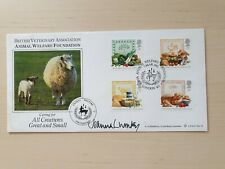 More details for first day cover food & farming year 1989, signed by joanna lumley