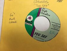 "The Night Crawlers You Say/Night Crawlin' 7"" vinyl 45 RPM VG+ garage psych"