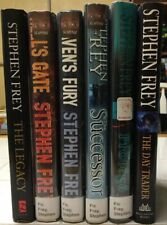 STEPHEN FREY Lot Of ~7~ Hardcover Novels With Dust Jackets. All First Editions