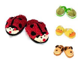 New Fuzzy Feet Winter Warmer Slipper Pair Snuggle Ladybird, Bee, Dog, Frog, Duck