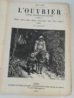 N6 Ancien Journal hebdo Illustré L'ouvrier 1885-1886 25eme Année Paris Bleriot