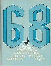 ☆* USS BENNINGTON CVS-20 WESTPAC DEPLOYMENT CRUISE BOOK YEAR LOG 1968 - NAVY *☆