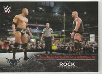 2016 Topps Heritage WWE The Rock Tribute Card #25 Defeats Stone Cold