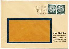 """STUTTGART, Briefumschlag 1936, Max Striffler Spezial-Werkzeug-Fabrikation """"Radfa"""