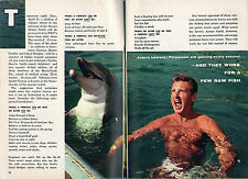 1961 Tv Guide Article ~ Lloyd Bridges & Porpoise in Marineland Circus ~ 2 Page