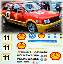 VW Polo G40 British Cup Shell Milner #11 - 1:43 Decal Abziehbild