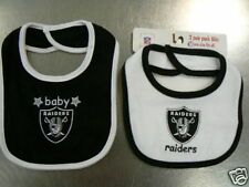 Oakland Raiders 2 Pack Baby Bib NFL New Infant