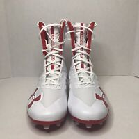 Brand New Mens Under Armour Highlight MC White Red Football Cleats Men's Sz 10