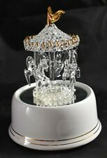 San Francisco Music Box Company Vintage Spun Glass Merry Go Round Horses
