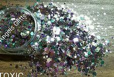 Nail glitter 5g TOXIC For acrylic or gel multicut glitter custom mixed