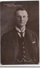 Political Postcard, Sir Edward Grey, British Foreign Minister PPC Unposted