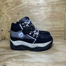 Street Flyers Skate Roller Retractable Wheel Shoes 8201 Men's 9 Women's 11 Black
