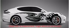 """FURIOUS FLAMING DRAGON (SET OF 2) SPEED SIDE DECALS STICKER VINYL (60"""" x 12"""")"""