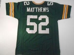 UNSIGNED CUSTOM Sewn Stitched Clay Matthews Green Jersey - M, L, XL, 2XL