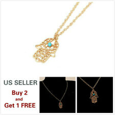 Fashion Women Gold Hand BOHO Pendant Long Chain Sweater Necklace Gift B