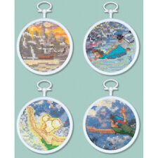 Thomas Kinkade Cross Stitch Kit - Disney Tinker Bell & Peter Pan Mini Vignettes