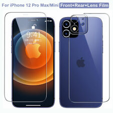 Front+Rear+Lens Film for iPhone 11 12 Pro Max/Mini Temper Glass Screen Protector