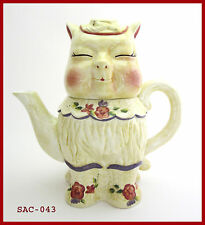 TEAPOT PUSS 'N BOOTS 1999 RARE JONAL Ceramic Teapot  NEW IN BOX