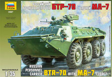 ZVEZDA 3587 RUSSIAN PERSONNEL CARRIER BTR-70 W/MA-7 TURRET MODEL KIT 1/35 NEW