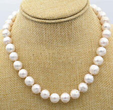Aaa 10-11Mm South Sea White Pearl Round Necklace 18 Inch Hff015