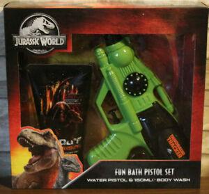 Jurassic World Park Gift Set Fun Bath Water Pistol Set and 150ml Body Wash Kids