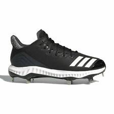 new adidas ICON BOUNCE CLEATS women 7.5 or 8 black softball baseball shoes metal
