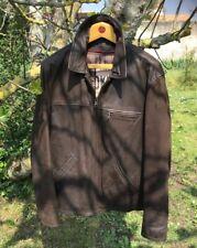 Ancien blouson veste OAKWOOD cuir vintage homme,moto perfecto,schott,vachette