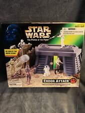 Star wars 1997 The Power Of The Force. Endor Attack W/ Rock Launcher + FREE GIFT