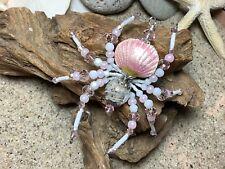 Christmas Spider Cape Cod Sand Pink Cloisonné German Tinsel Legend Ornament