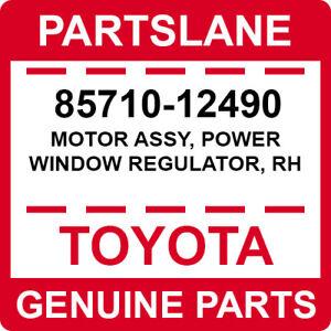 85710-12490 Toyota OEM Genuine MOTOR ASSY, POWER WINDOW REGULATOR, RH