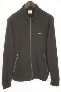 Men Lacoste Jumper Black Devanlay Cotton Wool Casual Full Zip 5 L XNA398