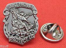 St Michael Lapel Hat Tie Pin Badge Saint Guardian Angel Archangel Miguel Brooch