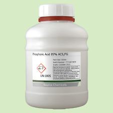 Phosphoric Acid 85% ACS Food Grade Rust Remover 500ml