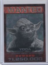 2015 Topps Star Wars Chrome Wanted #1 Yoda Citizen's alert