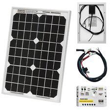 Cargador solar de 10W para 12V Batería Autocaravana, Caravana, Camper, barco, coche
