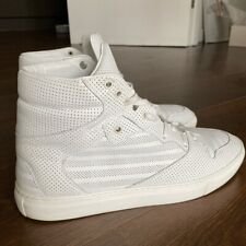 Balenciaga Hi Top Perforated Sneakers White - UK10/EU44